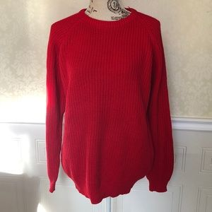 Sweaters - 90's Oversized Red Knit Sweater